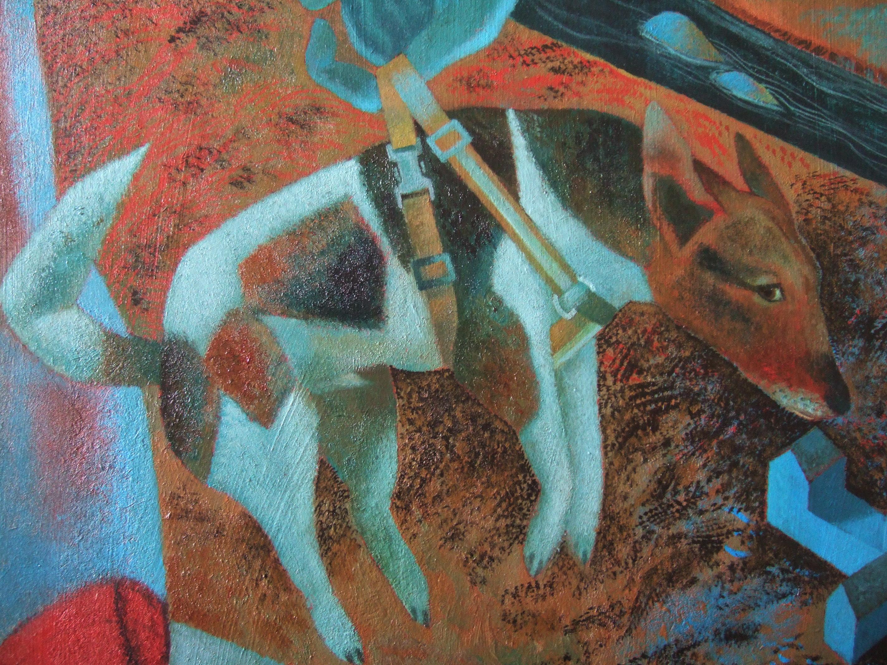 Raphael S Painting Of White Dog