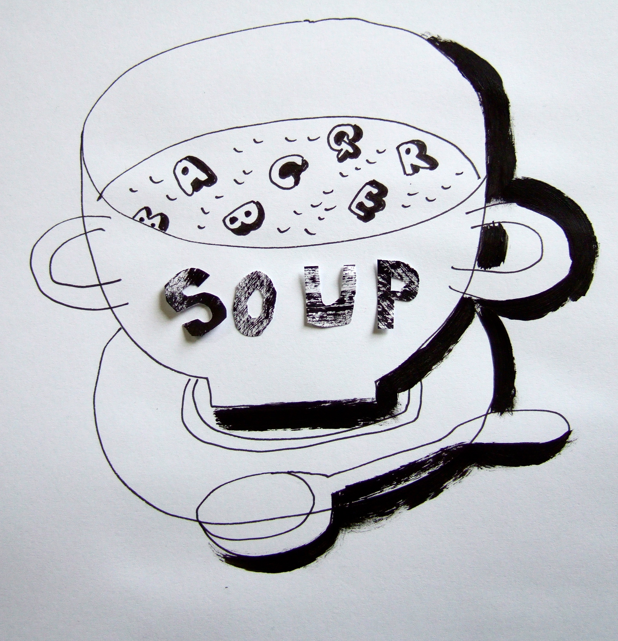 Soup Line Drawing Alph...