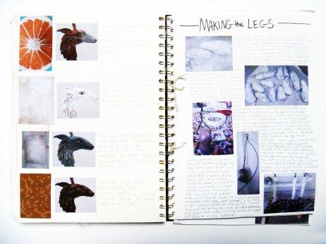 Claire Crystal sketchbook